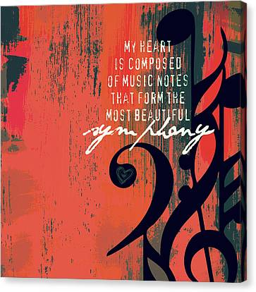 My Heart Is Composed Of Music Notes Canvas Print by Brandi Fitzgerald