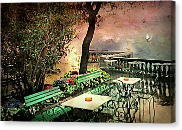 My Heart Lives In Sorrento Canvas Print by Diana Angstadt