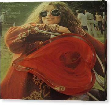 My Heart Loves Janis Joplin Canvas Print