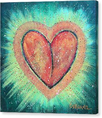 Canvas Print featuring the painting My Heart Loves You by Laurie Maves ART