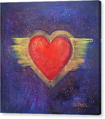 Canvas Print featuring the painting My Heart My Strength by Laurie Maves ART