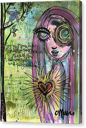 My Heart Sings Like This Little Bird Canvas Print by Laurie Maves ART