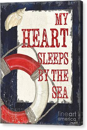 Relaxed Canvas Print - My Heart Sleeps By The Sea by Debbie DeWitt