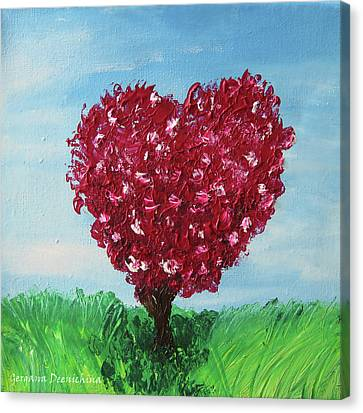 My Heart Tree Canvas Print by Gergana Deenichina