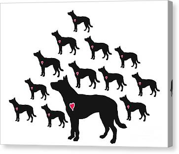 My Heeler Heart Belongs To You Canvas Print by I Am Lalanny