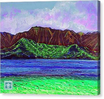 My Island Design  Canvas Print by Debbie Chamberlin