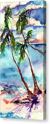 Canvas Print featuring the painting My Island In The Sun by Ginette Callaway