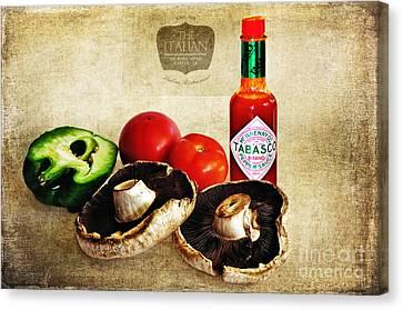 My Italian Cuisine Canvas Print