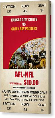 My Kansas City Chiefs Super Bowl Ticket Canvas Print by Joe Hamilton