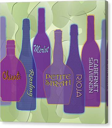Merlot Canvas Print - My Kind Of Wine by Tara Hutton