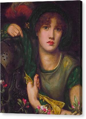 My Lady Greensleeves Canvas Print by Dante Gabriel Rossetti