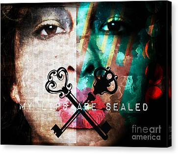 My Lips Are Sealed Canvas Print