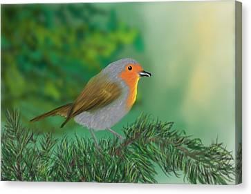 My Little Chickadee Canvas Print by Harry Dusenberg