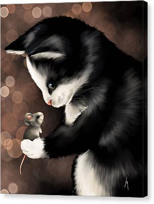 My Little Friend Canvas Print by Veronica Minozzi