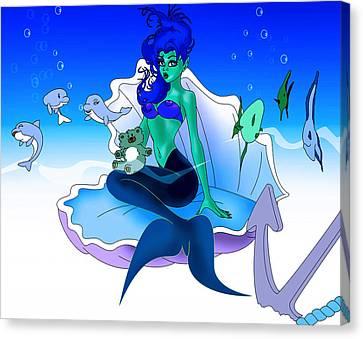 My Little Mermaid Canvas Print by Lynn Rider
