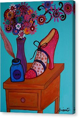 Canvas Print featuring the painting My Love by Pristine Cartera Turkus