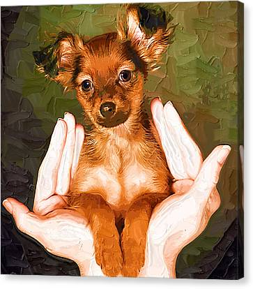 My Lovely Puppy Canvas Print by Irene Pet Artist