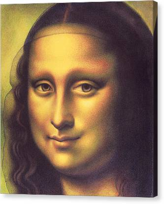 Canvas Print featuring the drawing My Mona Lisa by Donna Basile