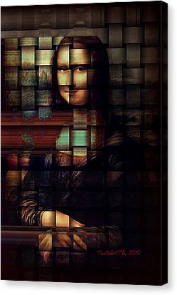 My Mona Lisa  Weave Series Canvas Print by Teodoro De La Santa
