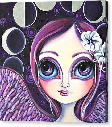 Fantasy Canvas Print - My moon Phase Angel Original by Jaz Higgins