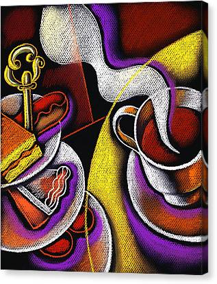 Satisfaction Canvas Print - My Morning Coffee by Leon Zernitsky