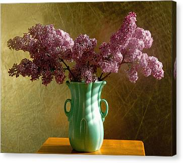 My Mother's Lilacs Canvas Print by Wendy Blomseth