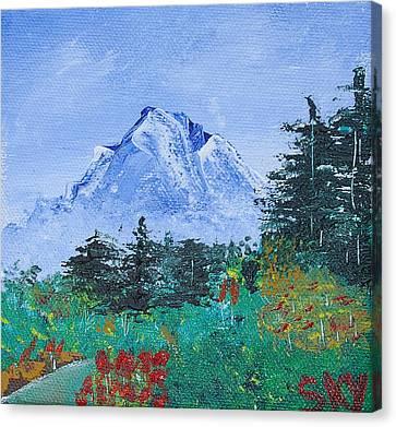 Bob Ross Canvas Print - My Mountain Wonder by Jera Sky