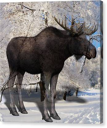 Moose Canvas Print - My My Moose by Marvin Blaine