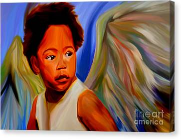 My Name Is Angel Of Life Canvas Print by Felix Von Altersheim