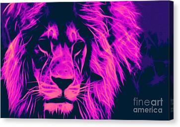 My Name Is Cecil Lion King Of Simbawe Pop Art Canvas Print by Felix Von Altersheim