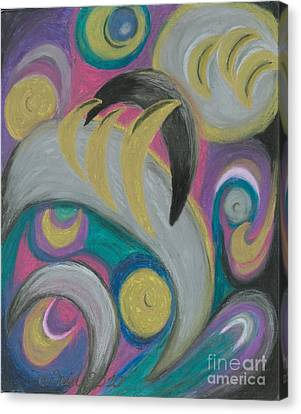 Canvas Print featuring the painting My New Universe by Ania M Milo