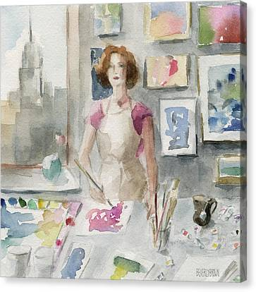 My New York Studio Canvas Print by Beverly Brown