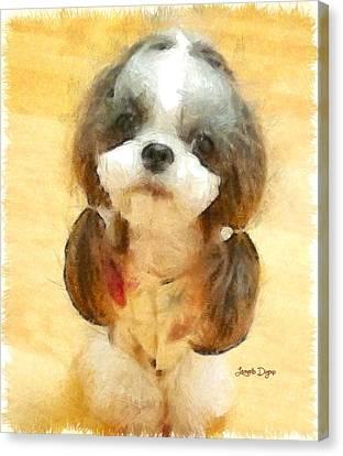 My Nice Pet - Da Canvas Print by Leonardo Digenio