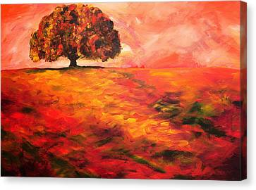 My Oak Tree Canvas Print by Mary Jo Zorad