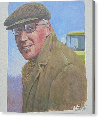 Canvas Print featuring the painting My Old Boss 1965. by Mike Jeffries