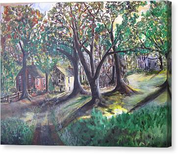 Canvas Print featuring the painting My Old Southern Plantation Home by Gary Smith