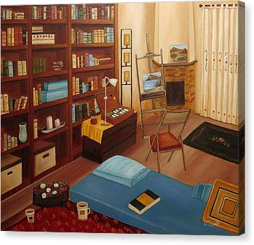 My Old Study Canvas Print by Angeles M Pomata