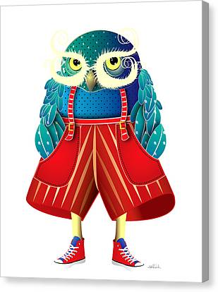 Visual Creations Canvas Print - My Owl Red Pants by Isabel Salvador