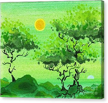 My Painting Canvas Print by Dan Keough