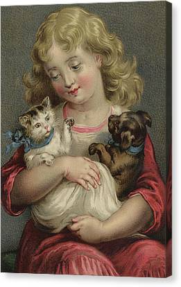 My Pets  Canvas Print by English School