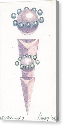 Canvas Print featuring the drawing My Planet X's 2 by Rod Ismay