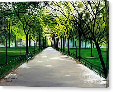 Canvas Print featuring the painting My Poet's Walk by Elizabeth Robinette Tyndall