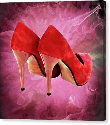 My Red Shoes Canvas Print by Ericamaxine Price