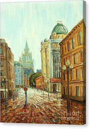 My Red Umbrella Canvas Print by Kristian Leov