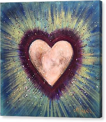 Canvas Print featuring the painting My Royal Heart by Laurie Maves ART