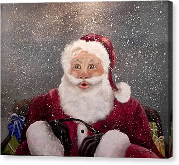 My Santa Canvas Print by Laura Brown