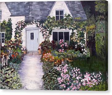 Canvas Print featuring the painting My Secret Place by Diane Daigle
