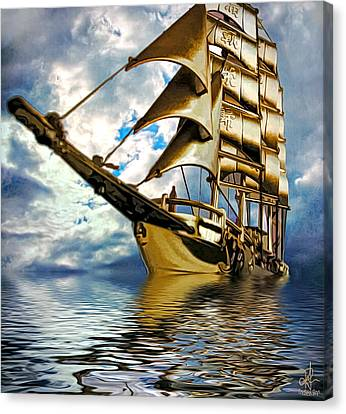 My Ship Comes In Canvas Print by Pennie  McCracken