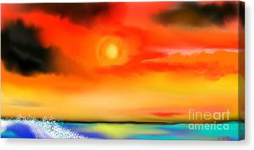 Canvas Print featuring the painting My Soul by Lori  Lovetere