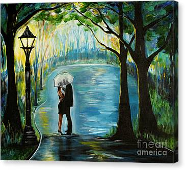 Canvas Print featuring the painting My Soulmate by Leslie Allen